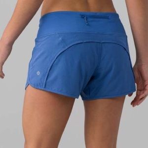 Lululemon Athletica Run Time Blue Shorts